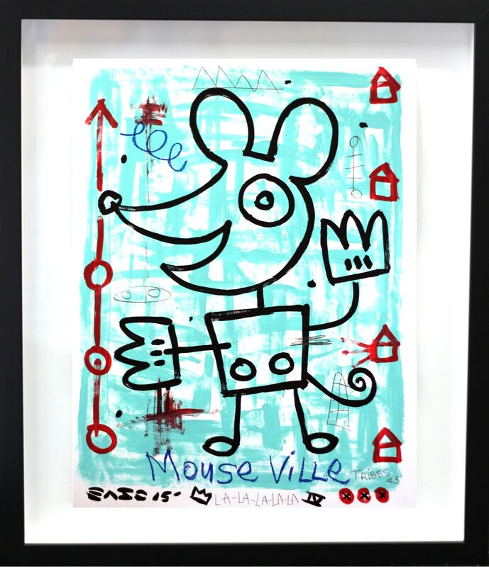 Gary John, 'Mouse Ville (framed)', 2015, Painting, Acrylic, Mixed Media on Board (framed), Artspace Warehouse