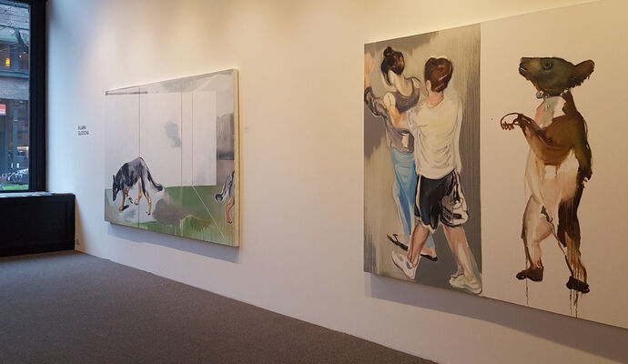 Klara Glosova and Mya Kerner, installation view