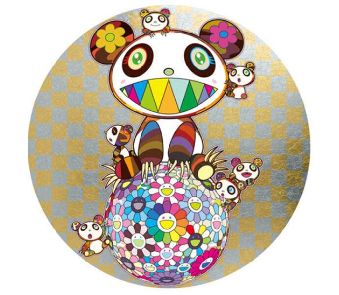 Takashi Murakami, 'Panda, Panda Cubs and Flower Ball', 2019