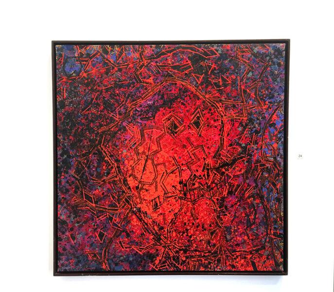 Lee Mullican, 'Spirit Head Swims Red', 1984