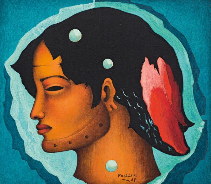 Alexis Preller, 'Profile Head'