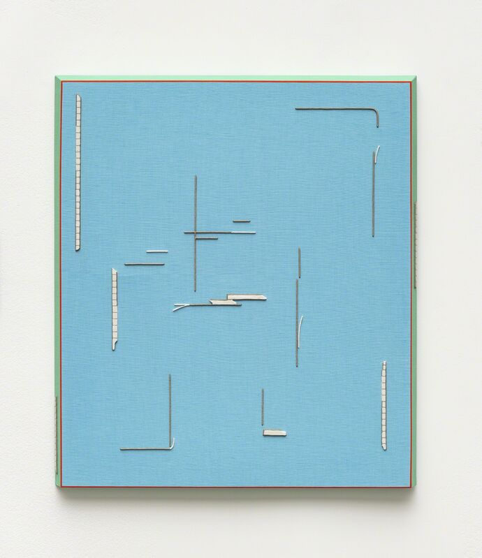 Rodrigo Cass, 'critic space lover', 2018, Painting, Concrete and tempera on linen, Anthony Meier Fine Arts