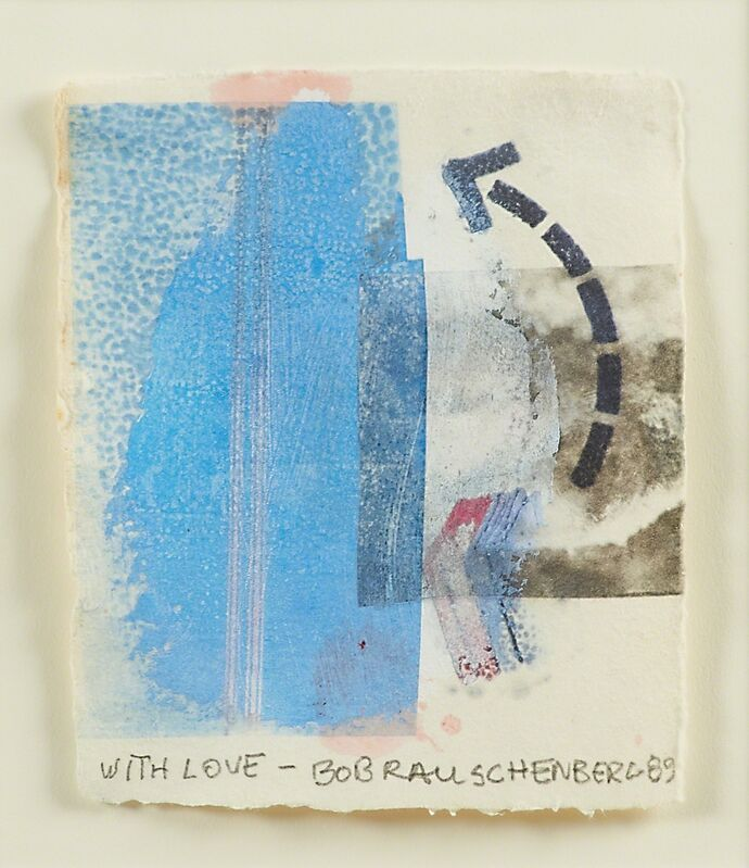 Robert Rauschenberg, 'Untitled', 1989, Drawing, Collage or other Work on Paper, Acrylic and solvent transfer on handmade paper (framed), Rago/Wright