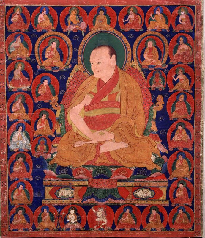 'Tibetan Teacher, Buddhashri Sanggye Pal (1339 - 1419)', ca. 1515–1535, Painting, Pigments on cloth, Rubin Museum of Art