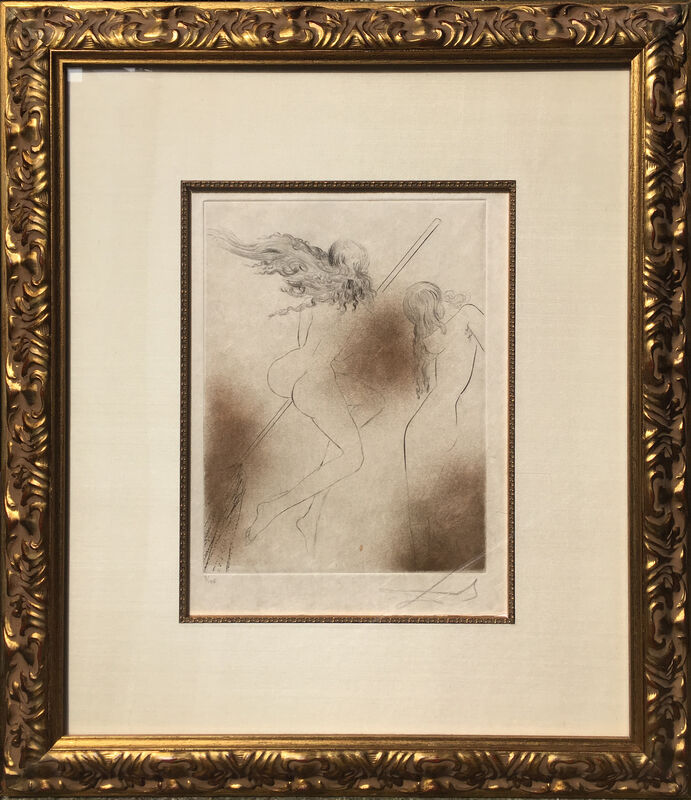 Salvador Dalí, 'Sorcieres au Balai', 1969, Print, Etching, signed and numbered in pencil, RoGallery