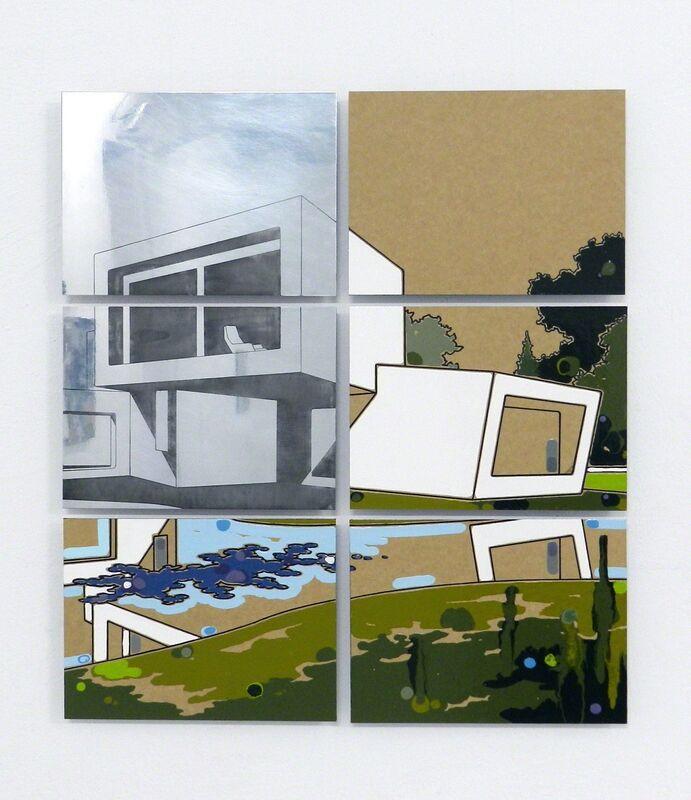 Guido Bagini, 'Technogreen #009', 2014, Painting, Enamel on cardboard and zinc polished on dibond, The Flat - Massimo Carasi