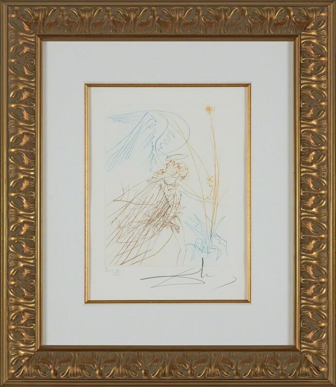 Salvador Dalí, 'The Angel (Le Paradis Perdu, Plate J)', 1974, Print, Hand-signed engraving, Martin Lawrence Galleries