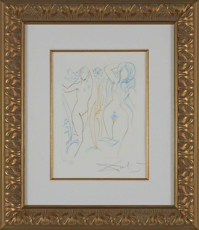Salvador Dalí, 'Adam and Eve (Le Paradis Perdu, Plate I)', 1974, Print, Hand-signed engraving, Martin Lawrence Galleries