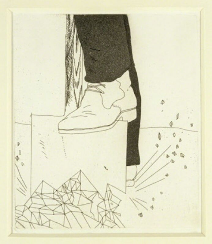 David Hockney, 'Digging up Glass from Illustrations for Six Fairy Tales from the Brothers Grimm,', 1969-1970, Print, Etching with drypoint and aquatint on Hodgkinson handmade wove paper, Grob Gallery