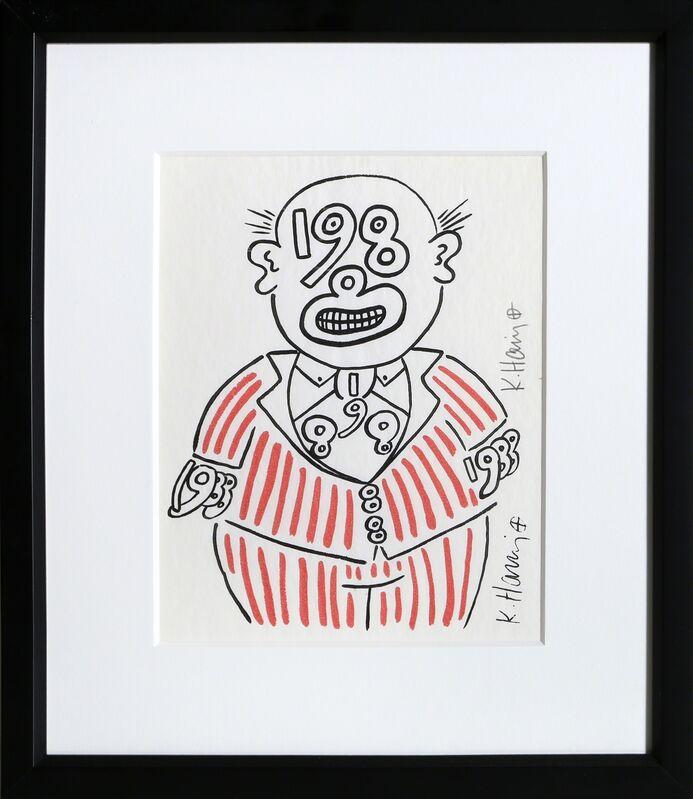 Keith Haring, 'New Year's Invitation '88 (Suit)', 1988, Ephemera or Merchandise, Silkscreen, RoGallery