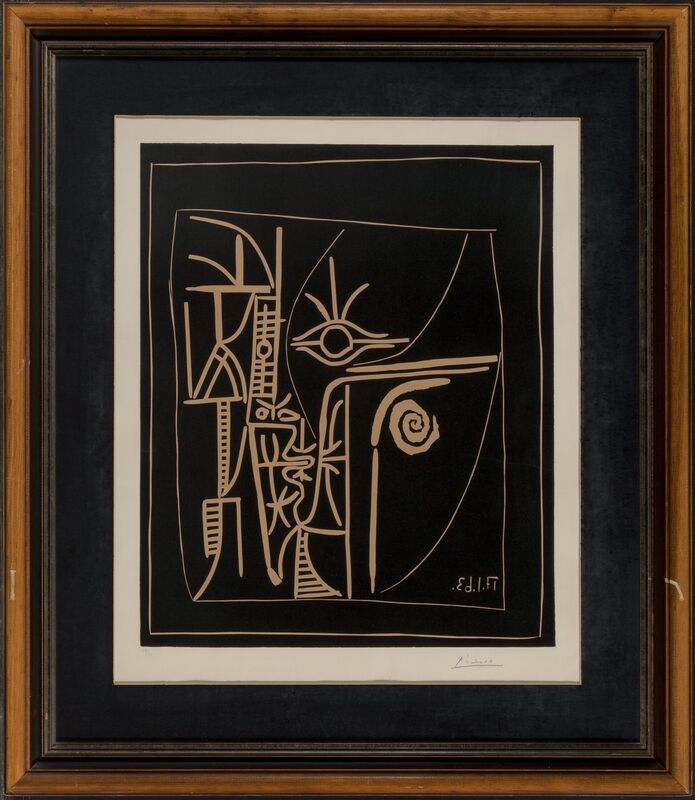 Pablo Picasso, 'Tête', 1963, Print, Linocut in colors on Arches paper, Heritage Auctions