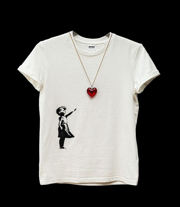 Banksy, 'Balloon Tee', 2019, Fashion Design and Wearable Art, Screenprint on fair trade tee with pendant, Tate Ward Auctions