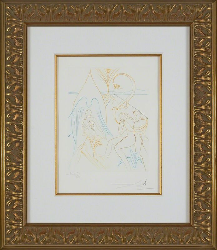 Salvador Dalí, 'The Tree of Life (Le Paradis Perdu, Plate H) ', 1974, Print, Hand-signed engraving, Martin Lawrence Galleries