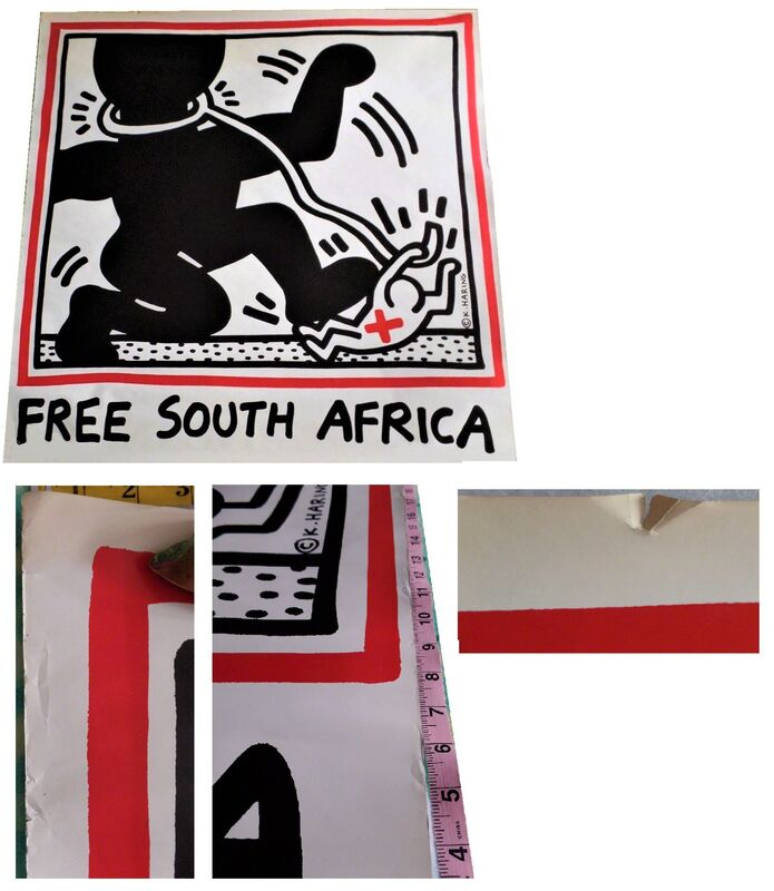 """Keith Haring, '""""Free South Africa"""", 1985, unsigned, offset lithograph on glazed poster paper, edition of 20,000.  ', 1985, Print, Offset lithograph on glazed poster paper., VINCE fine arts/ephemera"""