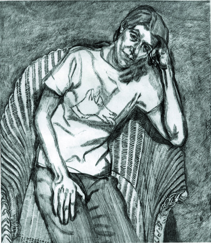 Lucian Freud, 'Bella in her Pluto T-shirt', 1995, Print, Etching, ARCHEUS/POST-MODERN