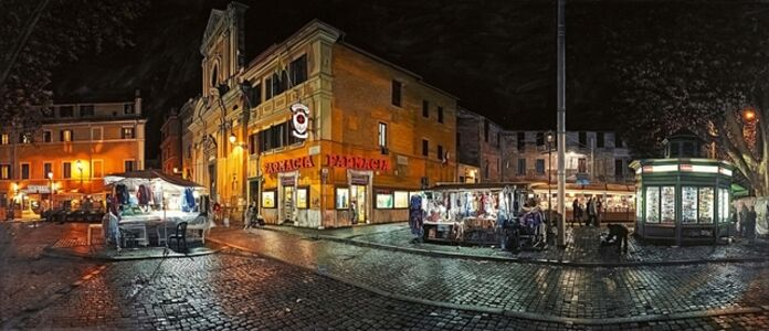Anthony Brunelli, 'Trastevere at Night (Rome)', 2007