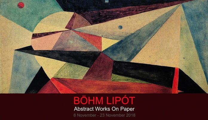 BÖHM LIPÓT POLDI - ABSTRACT WORKS ON PAPER, installation view