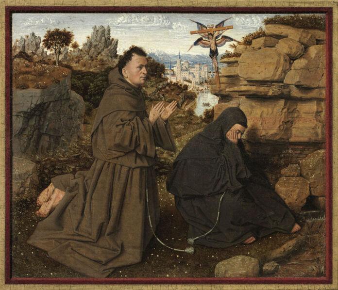 Jan van Eyck, 'Saint Francis of Assisi Receiving the Stigmata', 1430-1432