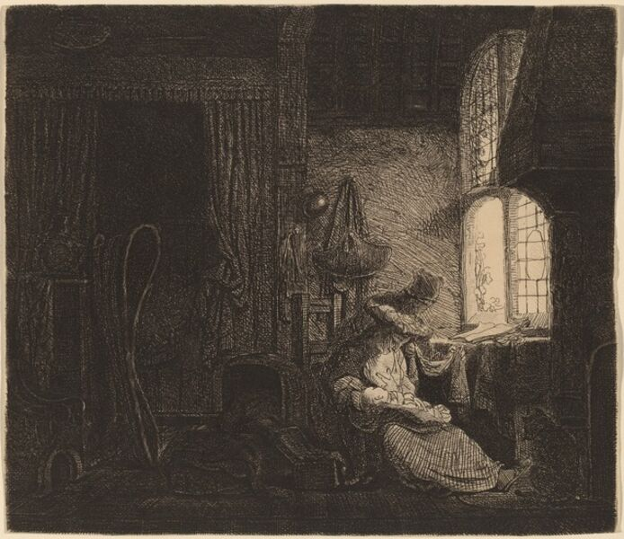 Ferdinand Bol, 'The Family in the Room', 1645