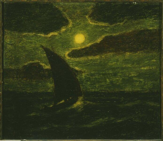 Albert Pinkham Ryder, 'Sailing by Moonlight'