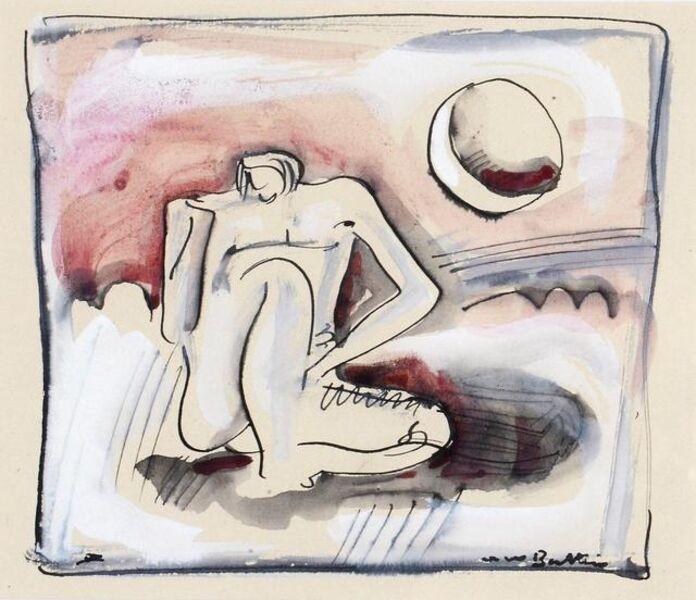 Walter Battiss, 'Moonbathing'