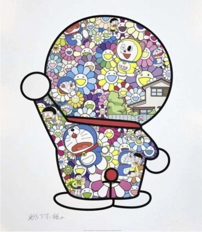Takashi Murakami, 'Doraemon In the Field of Flowers', 2019, Print, Offset print, Lougher Contemporary