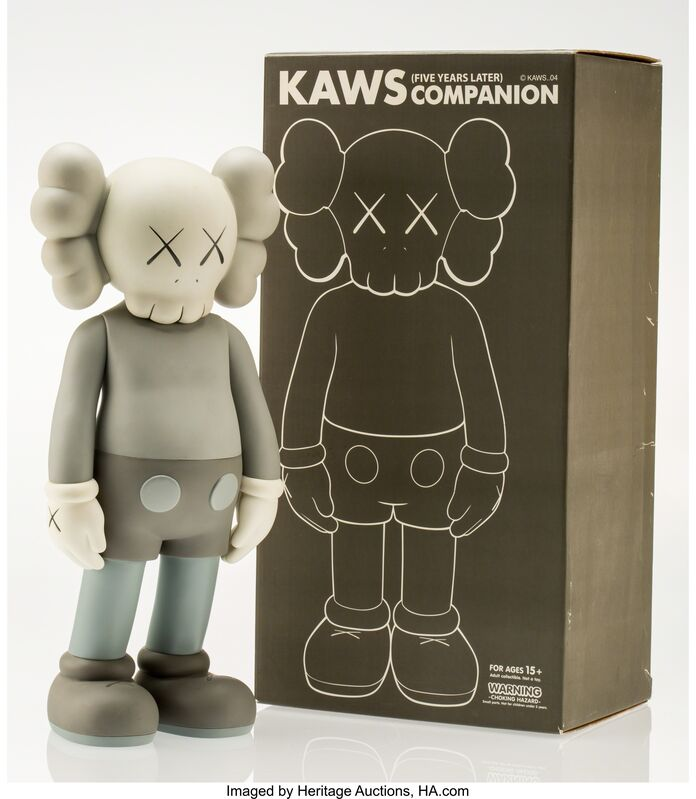 KAWS, 'Companion-Five Years Later (Grey)', 2004, Other, Painted cast vinyl, Heritage Auctions