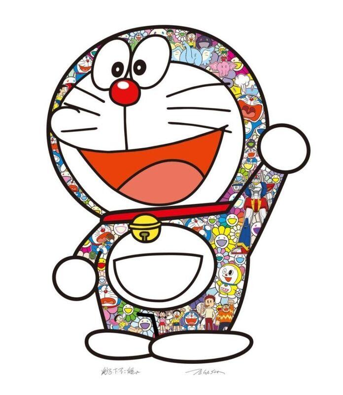 Takashi Murakami, 'Doraemon: Hip Hip Hurrah!', 2020, Print, Silkscreen, Lougher Contemporary