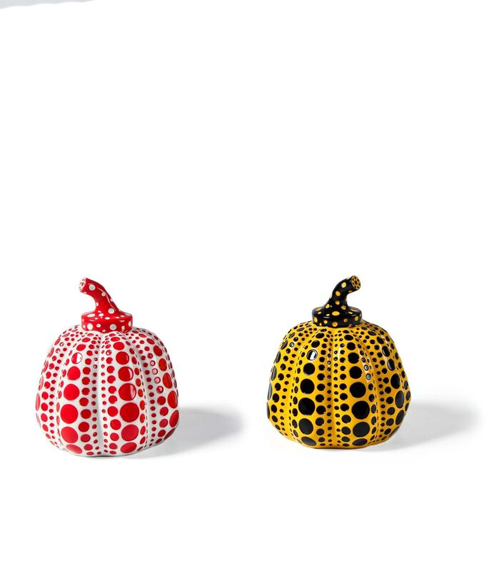 Yayoi Kusama, 'Pumpkin Object (White) & Pumpkin Object (Yellow)', 2016, Sculpture, The set of two painted cast resin multiples, RAW Editions