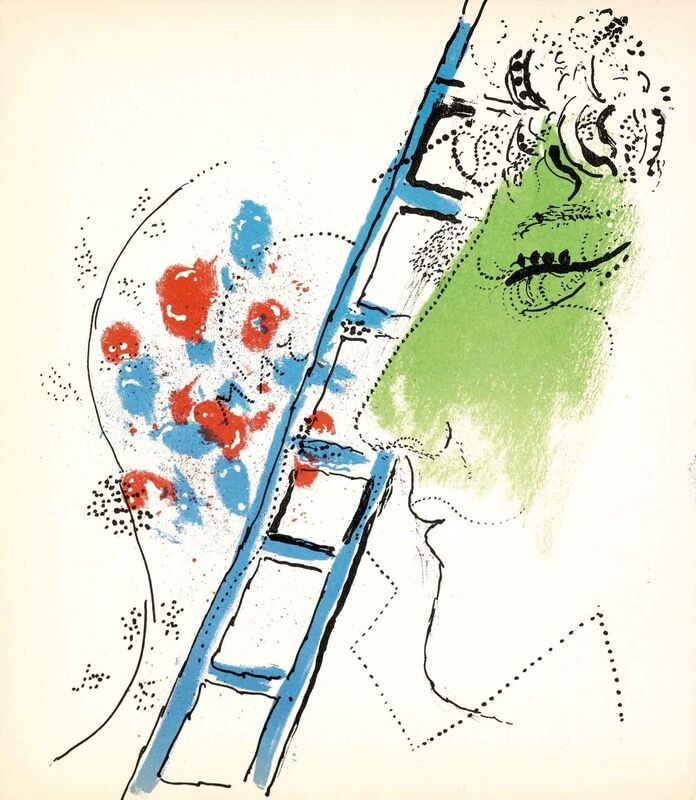 Marc Chagall, 'The Ladder (Jacques Lassaigne, M.200)', 1957, Print, Lithograph, Martin Lawrence Galleries