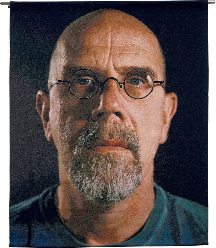 Chuck Close, 'Self-Portrait/Color', 2007, Textile Arts, Monumental Jacquard woven tapestry, with original stainless steel hanging hardware., Phillips
