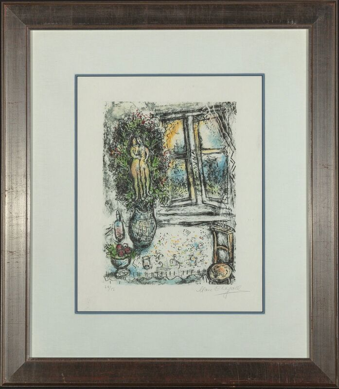 Marc Chagall, 'The Half Opened Window', 1975, Print, Lithograph in colors on Japan paper, Heritage Auctions
