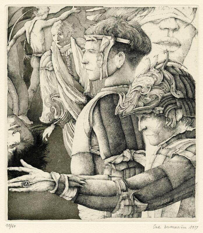 Erik Desmazières, 'Le Songe de Malatesta', 1979, Print, Etching, Childs Gallery