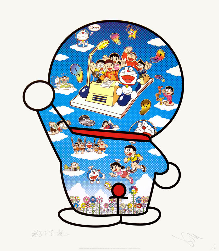 Takashi Murakami, 'Doraemon, Let's Go Beyond These Dimensions on a Time Machine with Master Fujiko F Fujio!', 202, Print, Offset Lithograph, Kumi Contemporary / Verso Contemporary