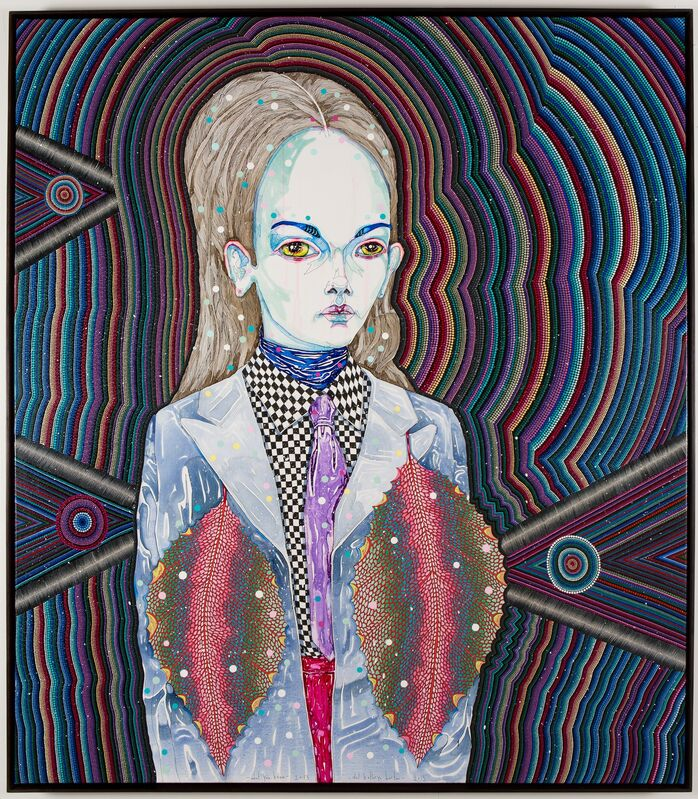Del Kathryn Barton, 'what you know ', 2013, Painting, Ynthetic polymer paint and gouache on polyester canvas, Roslyn Oxley9 Gallery