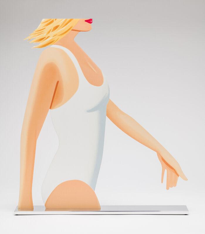 Alex Katz, 'Coca-Cola Girl (Cutout)', 2019, Sculpture, Powder Coated Aluminum, UV Cured Archival Inks, Clear Coated, Polished Aluminum Base, Taglialatella Galleries