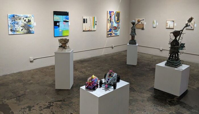 Mixed Media Invitational Group Show, installation view