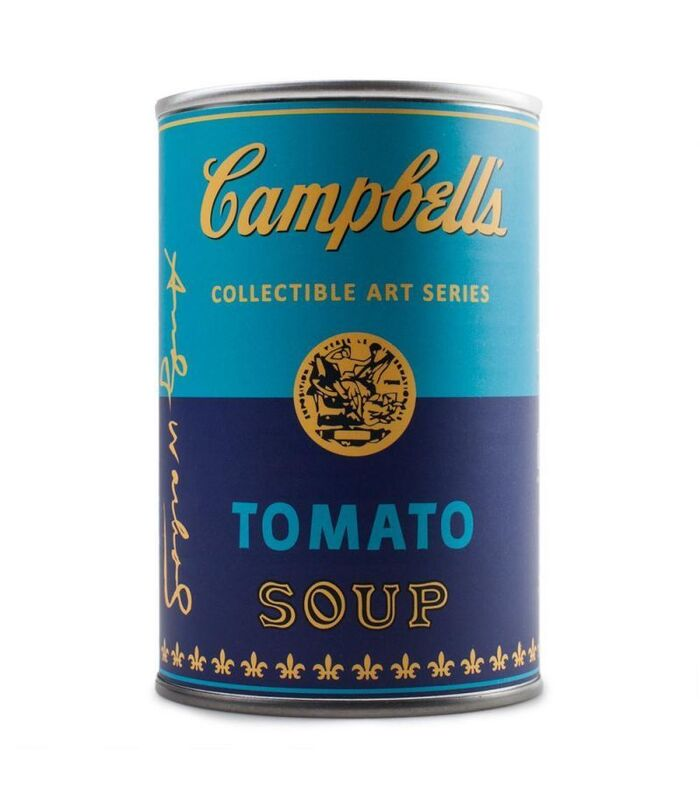 """Andy Warhol, 'Campbell's Soup Can Mystery', 2019, Sculpture, Soup """"can"""" with a mystery art toy, Samhart Gallery"""