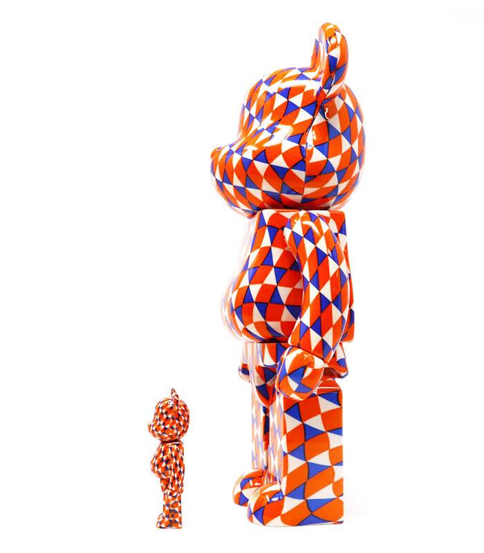Barry McGee, ''Geometric' Be@rbrick Figure Set', 2018, Sculpture, Collectible painted vinyl figure set., Signari Gallery