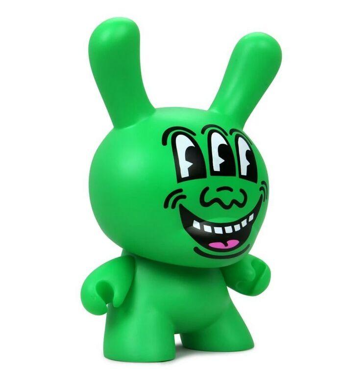 Keith Haring, 'Three Eyed Face Dunny', ca. 2019, Sculpture, Vinyl Art Toy, Samhart Gallery