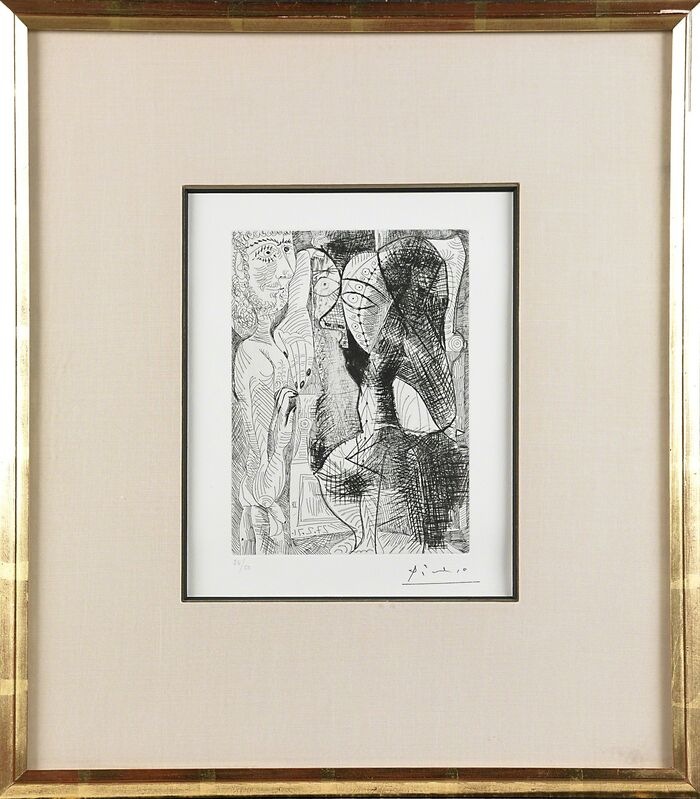 Pablo Picasso, 'Untitled, plate 61 from Series 156', Print, Etching and drypoint, Rago/Wright