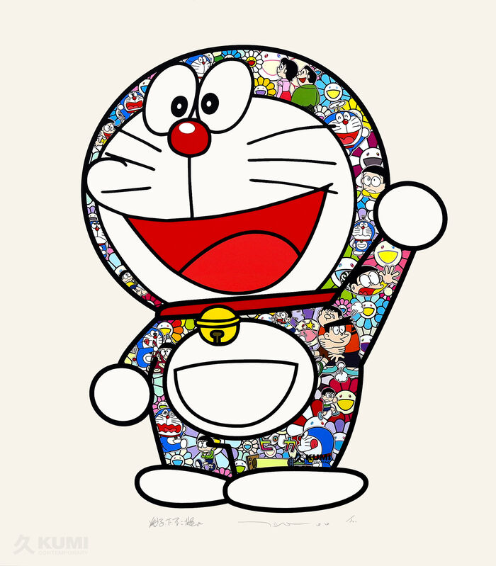 Takashi Murakami, 'Doraemon: Thank You!', 2020, Print, Silkscreen, Kumi Contemporary / Verso Contemporary
