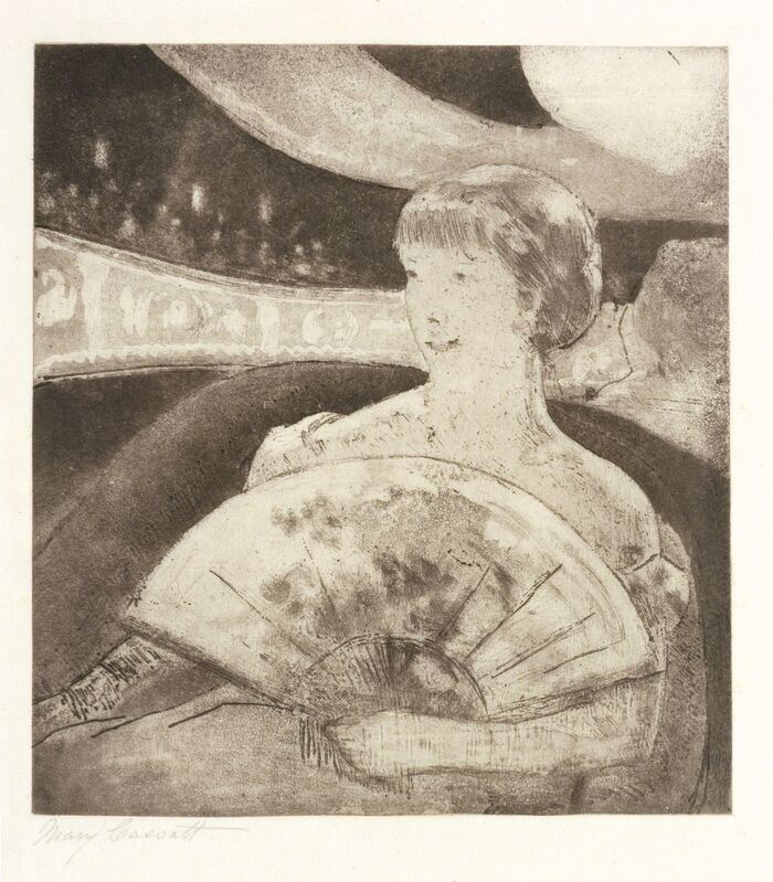 Mary Cassatt, 'In the Opera Box (No. 3)', ca. 1880, Print, Soft-ground etching, aquatint, and etching, fourth state of four, Blanton Museum of Art