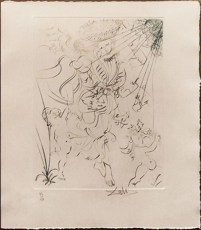 Salvador Dalí, 'AUTUMN', 1970, Print, ENGRAVING WITH COLOR, Gallery Art