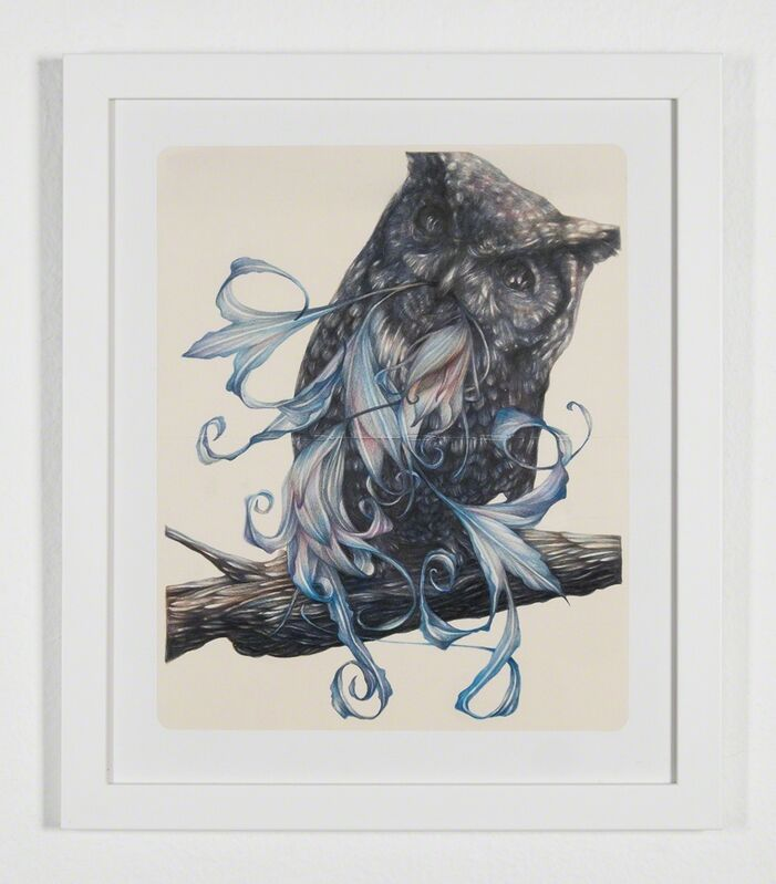 Marco Mazzoni, 'The Cynic', 2014, Drawing, Collage or other Work on Paper, Colored pencils on moleskin paper, Jonathan LeVine Projects