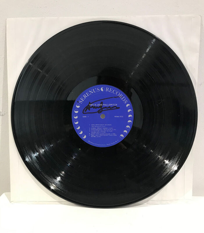 Andy Warhol, 'This is John Wallowitsch', 1964, Mixed Media, Original vinyl record by John Wallowitsch, cover designed by Andy Warhol, Galerie Kellermann
