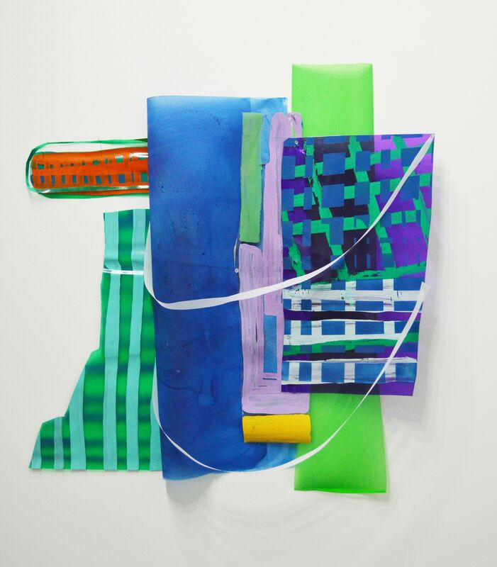 Ivelisse Jiménez, 'Else-were #5 (cosas transparentes con verde y azul)', 2015, Mixed Media, Mixed media, Diana Lowenstein Gallery