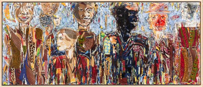Kagiso Pat Mautloa, 'The Queuing Crowd', 2020