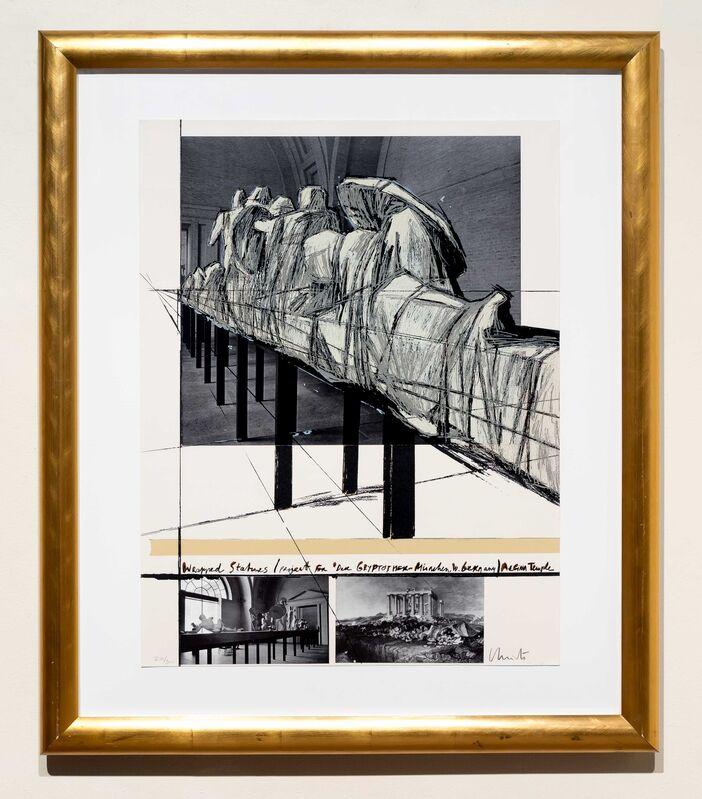 Christo, 'Aegena Temple Project for Munich Glyptotek', 1988, Print, Photocollage and screenprint, Leslie Sacks Gallery