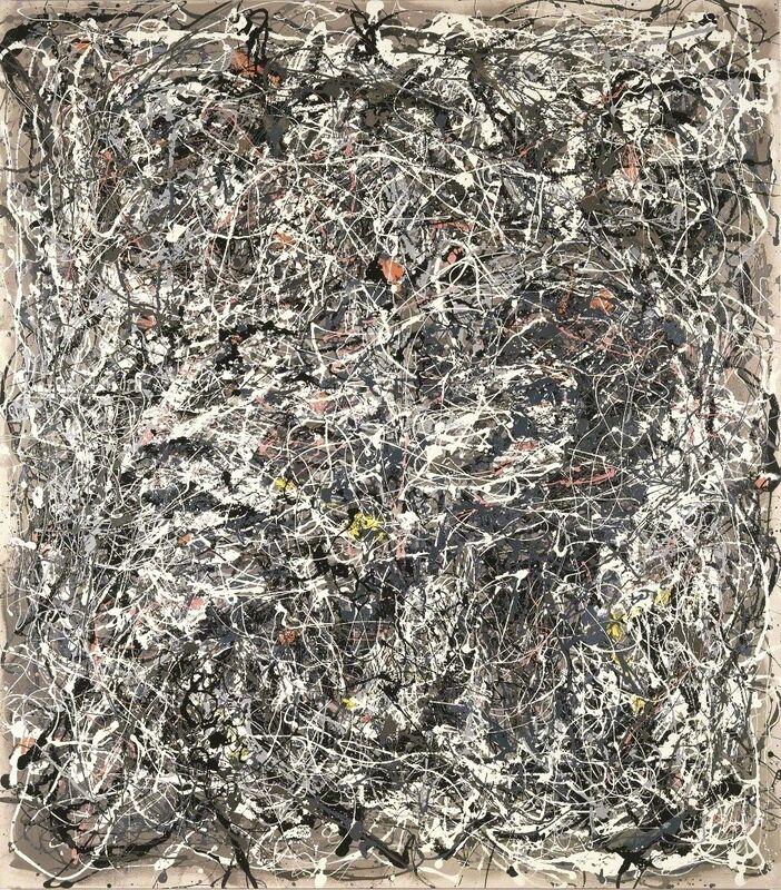 Art & Language, 'Portrait of V.I. Lenin in the Style of Jackson Pollock V', 1980, Painting, Enamel on canvas, Museum Dhondt-Dhaenens